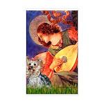 Mandolin Angel & Yorkie (T) Sticker (Rectangle)