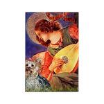 Mandolin Angel & Yorkie (T) Rectangle Magnet (10 p