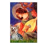 Mandolin Angel & Yorkie (T) Postcards (Package of