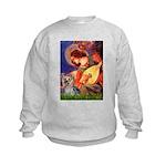 Mandolin Angel & Yorkie (T) Kids Sweatshirt