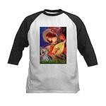 Mandolin Angel & Yorkie (T) Kids Baseball Jersey