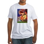 Mandolin Angel & Yorkie (T) Fitted T-Shirt