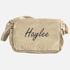 Haylee artistic Name Design Messenger Bag