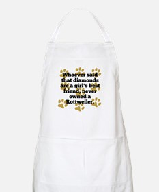 Rottweilers Are A Girls Best Friend Apron