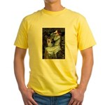 Ophelia's Yorkie (T) Yellow T-Shirt