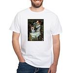 Ophelia's Yorkie (T) White T-Shirt