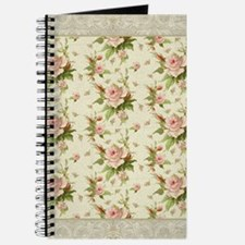 Summer at the Cottage Roses Chintz Swirl P Journal