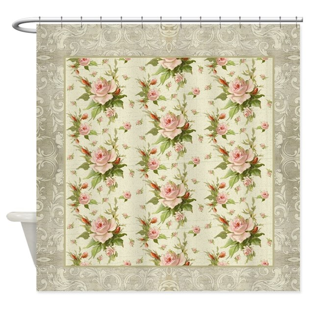 Kitchen Curtains Fabric Vintage Kitchen Fabric Chintz: Summer At The Cottage Roses Chintz Shower Curtain By Admin_CP113518717