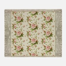 Summer at the Cottage Roses Chintz S Throw Blanket