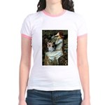 Ophelia's Yorkie (T) Jr. Ringer T-Shirt