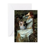 Ophelia's Yorkie (T) Greeting Card