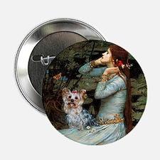 "Ophelia's Yorkie (T) 2.25"" Button"