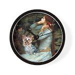 Ophelia's Yorkie (T) Wall Clock
