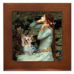 Ophelia's Yorkie (T) Framed Tile