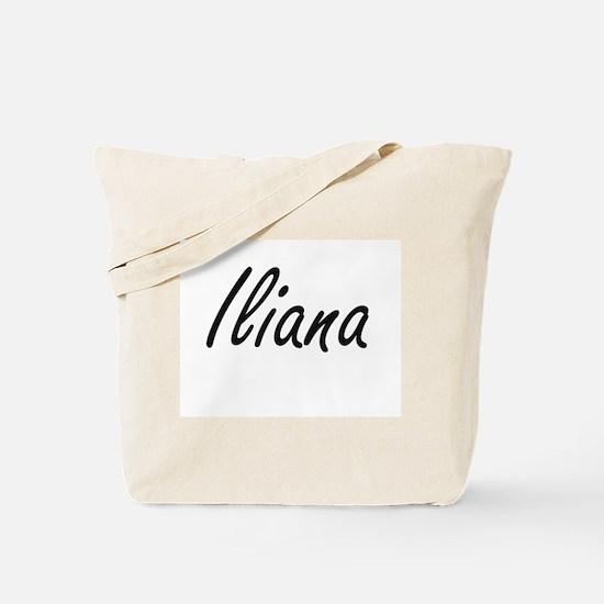Iliana artistic Name Design Tote Bag