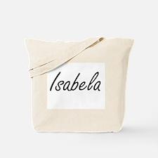 Isabela artistic Name Design Tote Bag