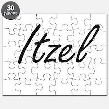 Itzel artistic Name Design Puzzle