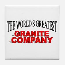 """The World's Greatest Granite Company"" Tile Coaste"