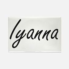 Iyanna artistic Name Design Magnets