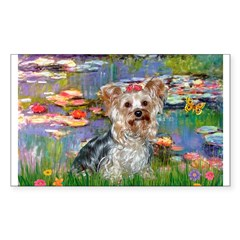 LILIES / Yorkie (T) Decal