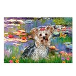 LILIES / Yorkie (T) Postcards (Package of 8)