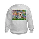 LILIES / Yorkie (T) Kids Sweatshirt