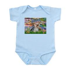 LILIES / Yorkie (T) Infant Bodysuit