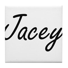 Jacey artistic Name Design Tile Coaster