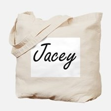 Jacey artistic Name Design Tote Bag