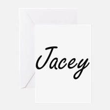 Jacey artistic Name Design Greeting Cards