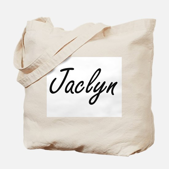 Jaclyn artistic Name Design Tote Bag