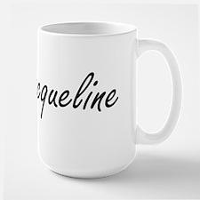 Jacqueline artistic Name Design Mugs