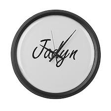 Jadyn artistic Name Design Large Wall Clock