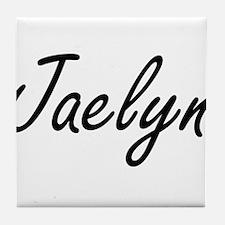 Jaelyn artistic Name Design Tile Coaster