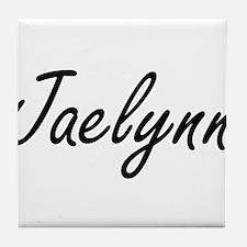 Jaelynn artistic Name Design Tile Coaster