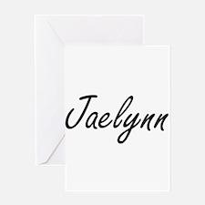 Jaelynn artistic Name Design Greeting Cards