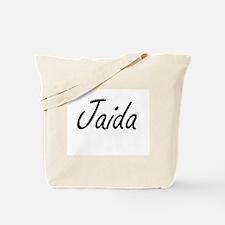 Jaida artistic Name Design Tote Bag