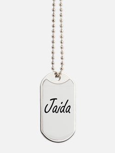 Jaida artistic Name Design Dog Tags