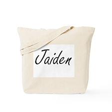 Jaiden artistic Name Design Tote Bag
