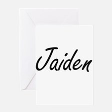 Jaiden artistic Name Design Greeting Cards