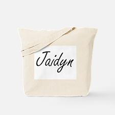 Jaidyn artistic Name Design Tote Bag