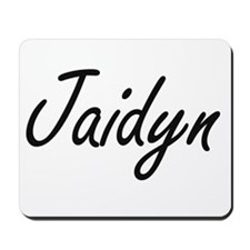 Jaidyn artistic Name Design Mousepad
