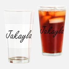 Jakayla artistic Name Design Drinking Glass