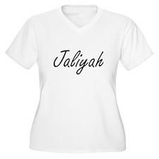Jaliyah artistic Name Design Plus Size T-Shirt