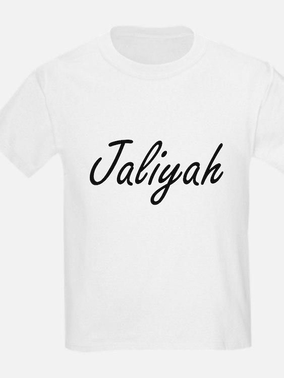 Jaliyah artistic Name Design T-Shirt