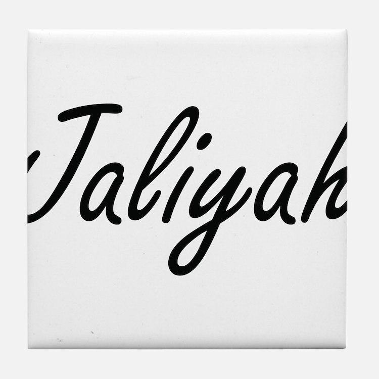 Jaliyah artistic Name Design Tile Coaster