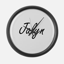 Jalyn artistic Name Design Large Wall Clock