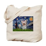 Starry Night Yorkie (T) Tote Bag