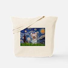 Starry Night Yorkie (T) Tote Bag