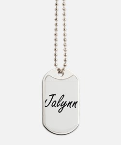 Jalynn artistic Name Design Dog Tags